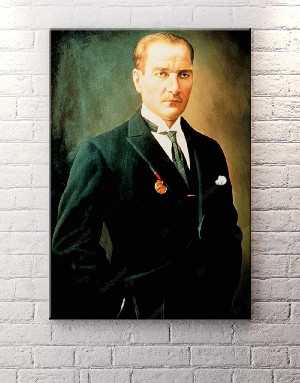 Atatürk Cumhurbaşkanı Kanvas Tablo