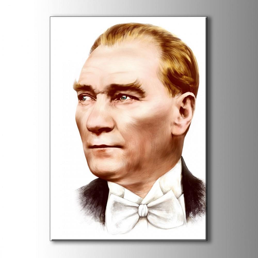 Atatürk Portre Çizim Kanvas Tablo