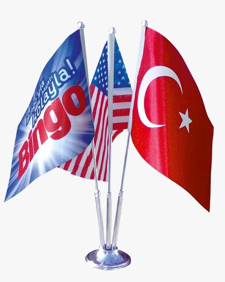 Masa Bayrağı 3'lü