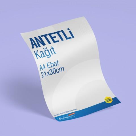 A4 Antetli Kağıt 80 gr