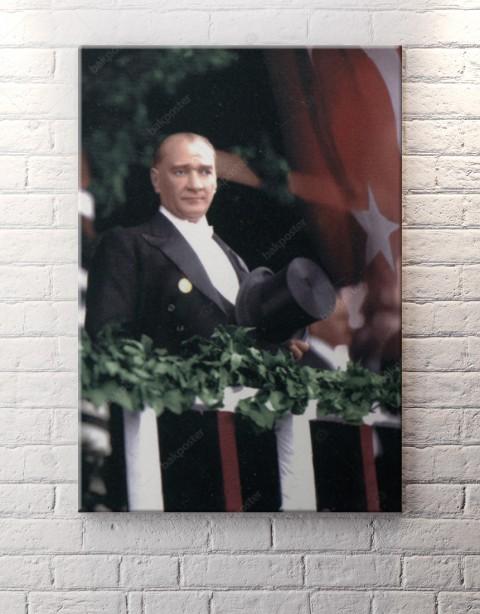 Atatürk Balkon Konuşması Kanvas Tablo
