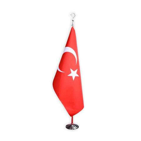 Makam Bayrağı Saçaksız Takım Krom