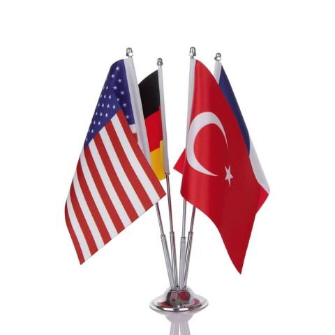 Masa Bayrağı 4'lü
